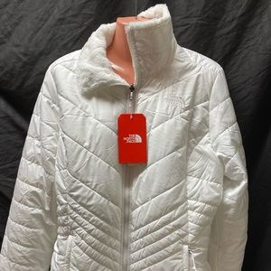 The North Face White Mossbud reversible jacket
